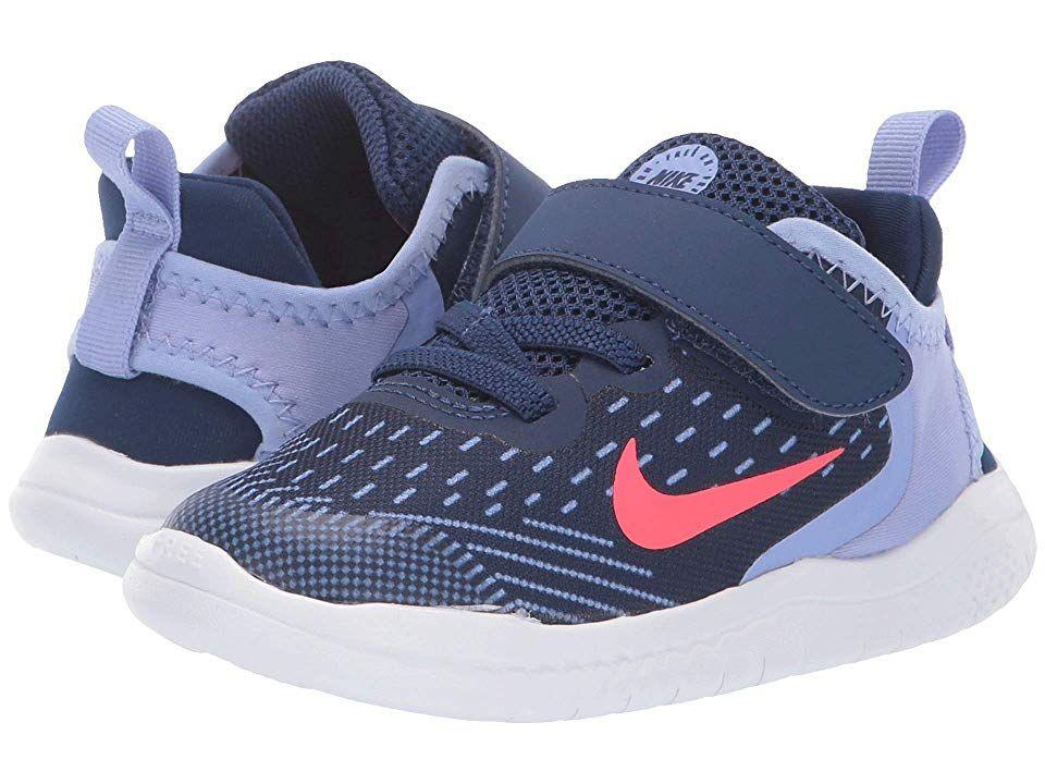 low priced 90b1e be4cf Nike Kids Free RN 2018 (Infant/Toddler) Girls Shoes Blue ...