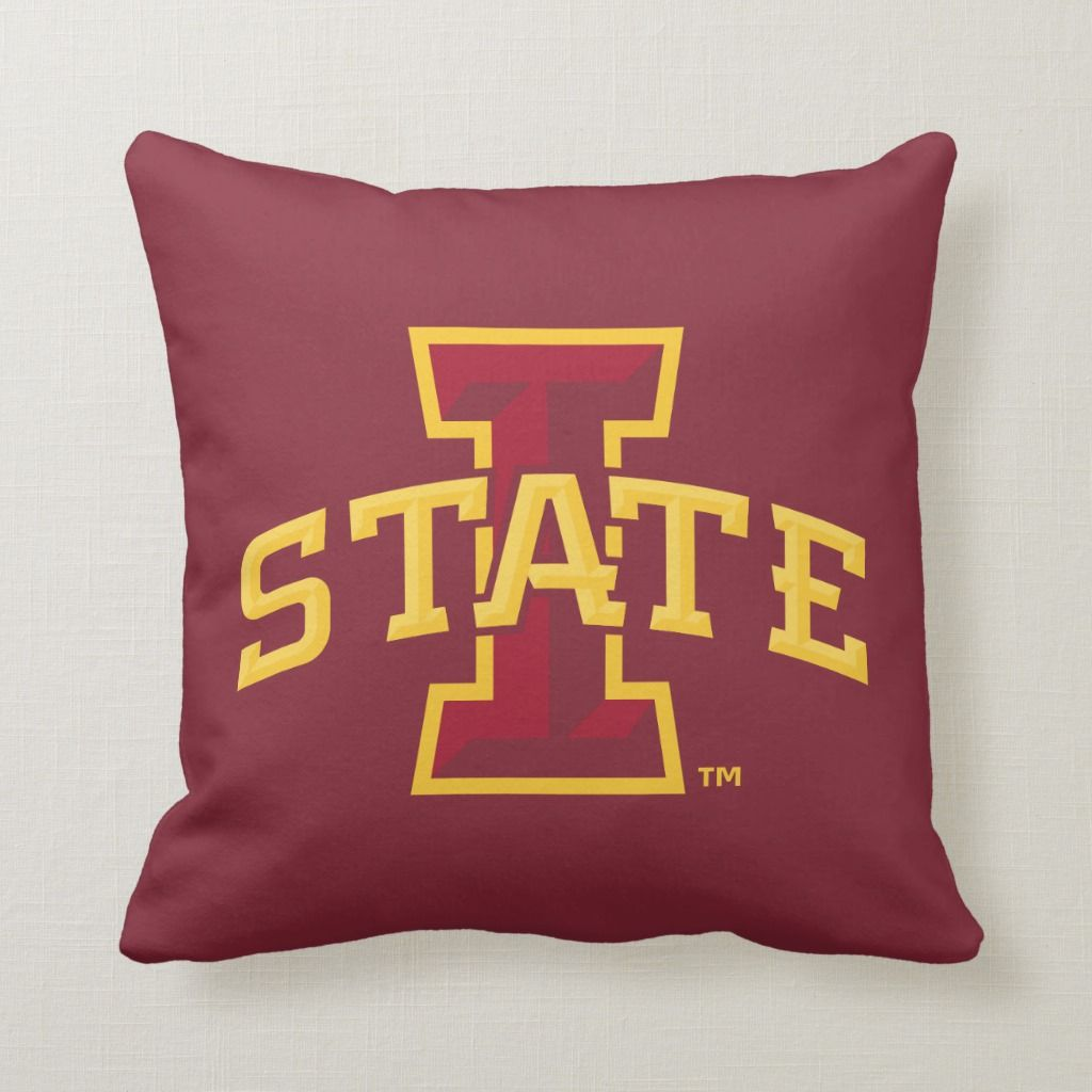Iowa State University | Iowa State Arched Logo Throw Pillow | Zazzle.com