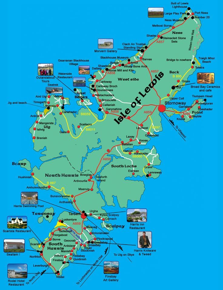 Ireland Points Of Interest Map.Map Of Harris Lewis Showing Points Of Interest Would Love To