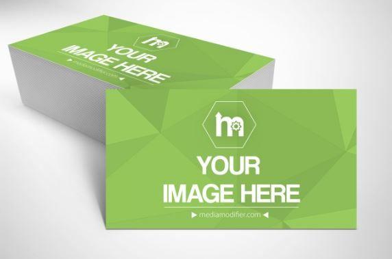 Free business card mockup generator