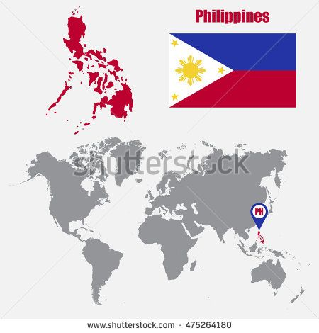 Pin by cristian chiriac on philippines pinterest philippine map philippines map on a world map with flag and map pointer vector illustration gumiabroncs Image collections