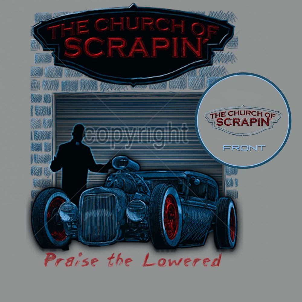 28115e8da97 Rat Rod T Shirt Praise The Lowered Scraping Low Hot Rod Small to 6XL and  Tall  PitStopShirtShop  GraphicTee