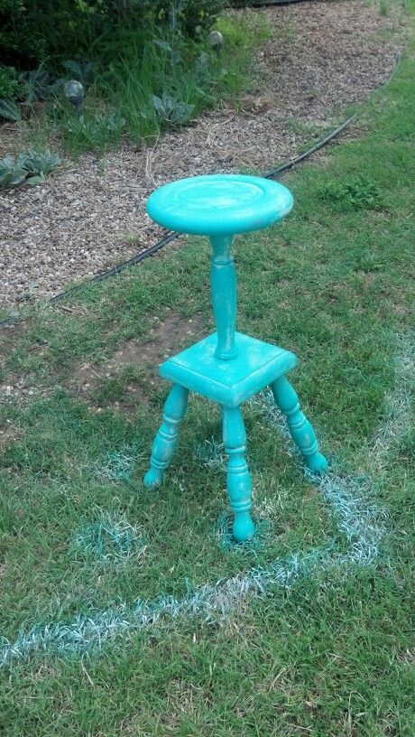 Teal Plant Stand Things I Have Painted Made Or