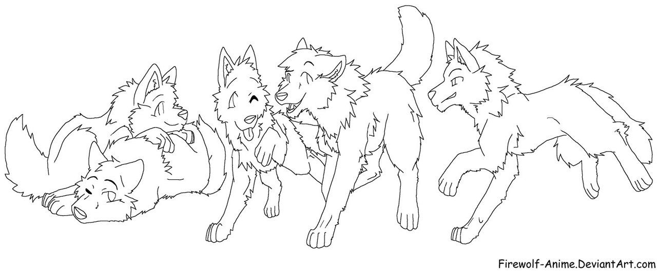 Anime Wolf Coloring Sheets Anime Wolf Cartoon Wolf Drawing Coloring Pages