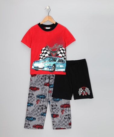 Take a look at this Orange & Gray Victory Lap Pajama Set - Boys by Komar Kids on #zulily today!