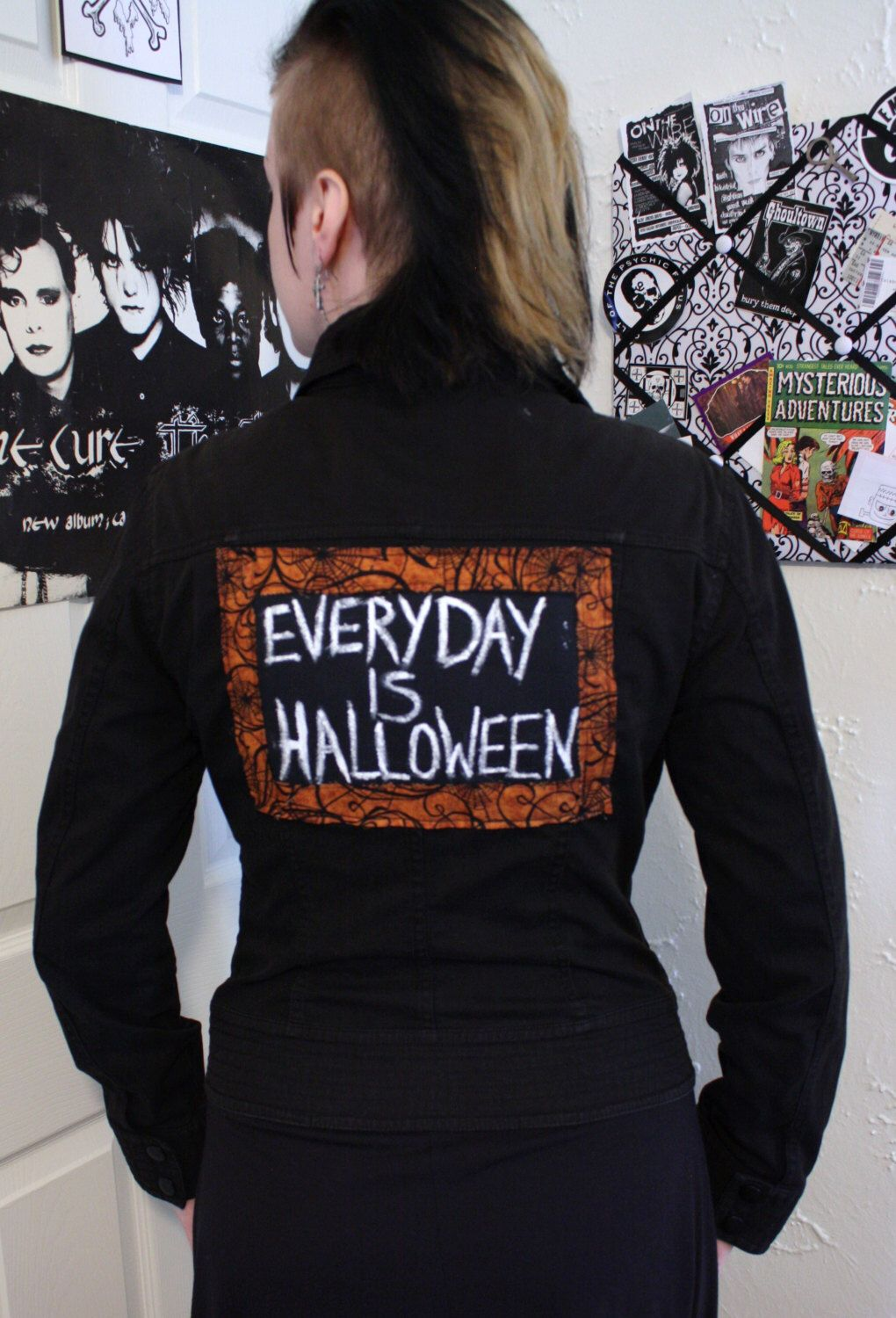 Everyday is Halloween back patch Upcycled DIY Jacket deathrock ...