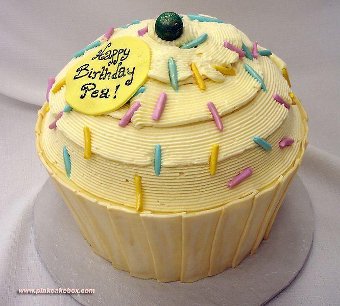 Giant Cupcake Birthday Cake » Celebration Cakes | Giant cupcake ...