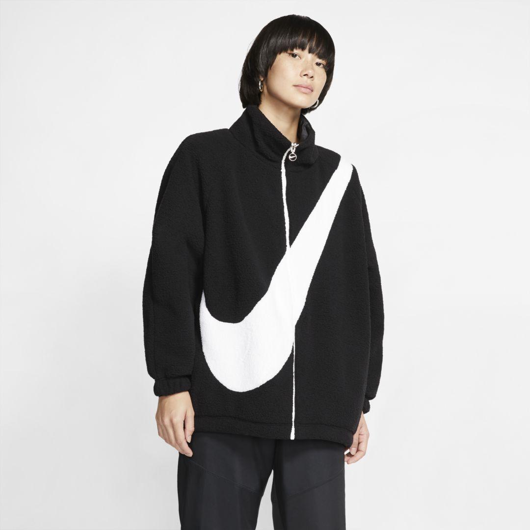 Culo Prueba Superficial  Nike Sportswear Swoosh Womens Reversible Jacket (Black) | Sherpa jacket,  Women's windbreaker, Jackets