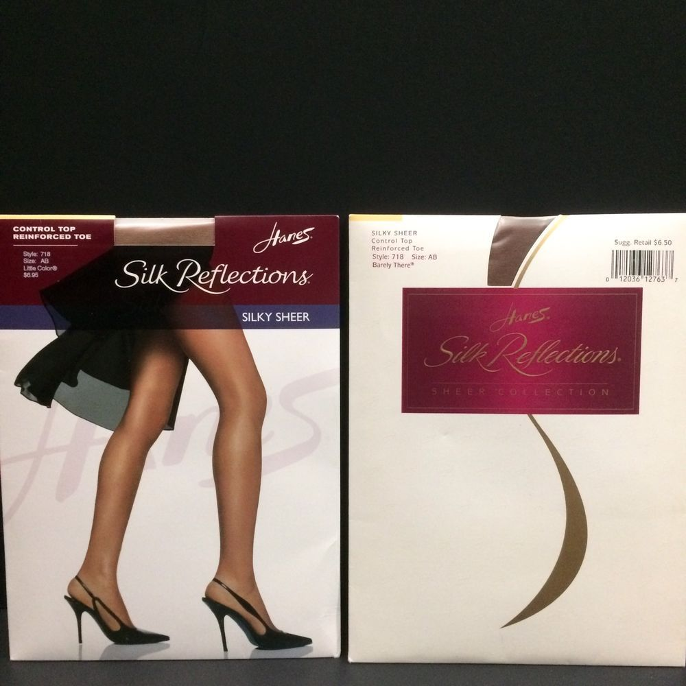 a488115fe 2 Hanes Silk Reflections Pantyhose Control Top Little Color Barely There AB  718  Hanes  Pantyhose