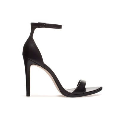 58a6787d1ee Zara // LEATHER SANDAL Ref. 2361/201 Height of heel: 10,2 cms./ 4,02 ...