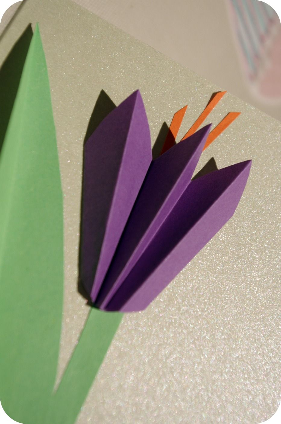 paper crocus flower craft kindergarten homeschool pinterest