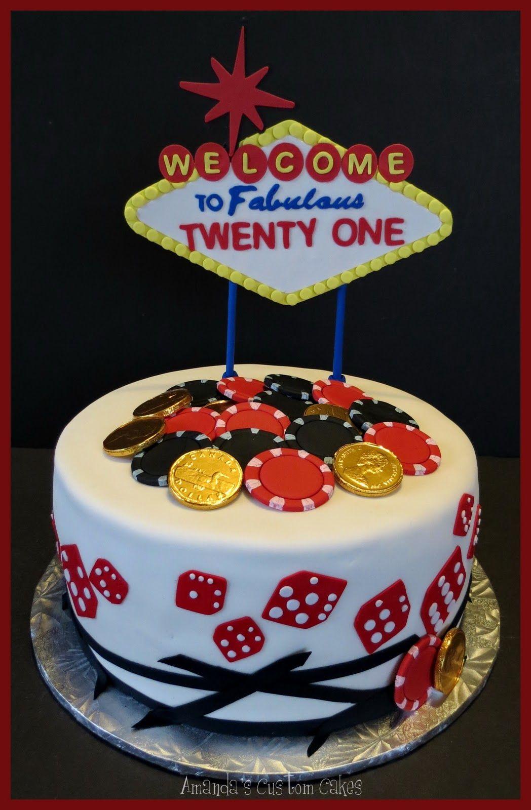 Astounding Las Vegas Cake For Someone Tuning 21 Vegas Birthday Cake Vegas Cake Personalised Birthday Cards Xaembasilily Jamesorg