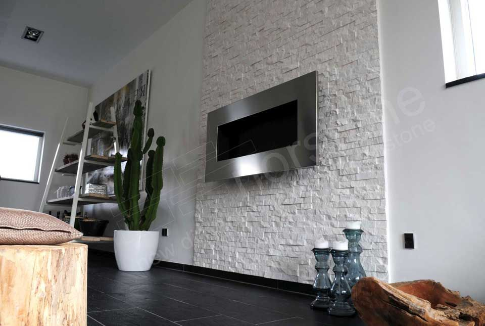 Elegant Interior Stacked Stone Veneer Wall Panels | Interior Wall Cladding |  Bathrooms | Pinterest | Stone Veneer, Wall Cladding And Interior Walls