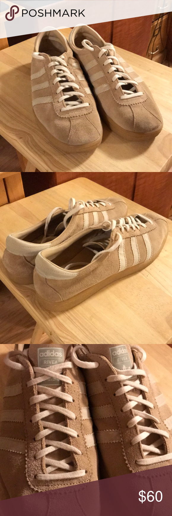 the latest b9696 9296e Adidas Tobacco Rivea Pale Nude   Cardboard Colorway Men s Size 11 (US) Only  worn a handful of times, in very good condition. adidas Shoes Sneakers
