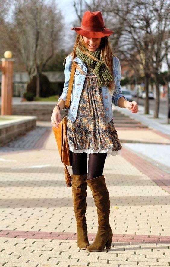 20 Winter Boho Outfit Ideen für Frauen #bohooutfits