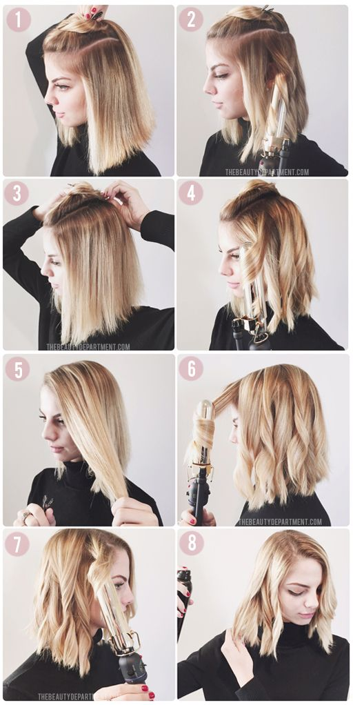 ways to style short straight hair how to style a lob or a bob hair hair hair styles 4057 | ea5a8ab93cec5adf716572d4e9915b66