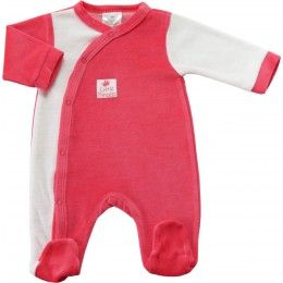 "Pyjama bébé fille blanc et fushia ""Little Princess"""