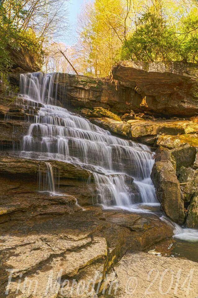 Laurel Falls Near Gauley River In West Virginia By Tim