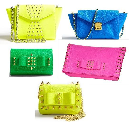 My two weaknesses..purses & bright colors....Handbag lovin'……Aila Bags!