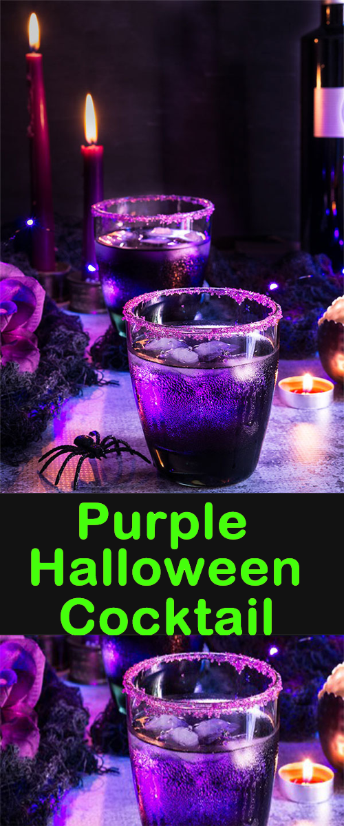 Purple Halloween Cocktail – An Unusual Purple Cocktail For Halloween Parties