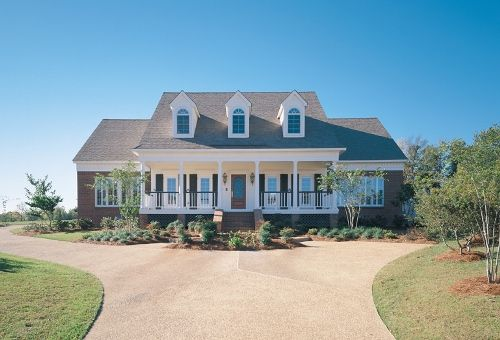 Cape Cod House Plans First Floor Master Front View Southern House Plans House Plans Country House Plans