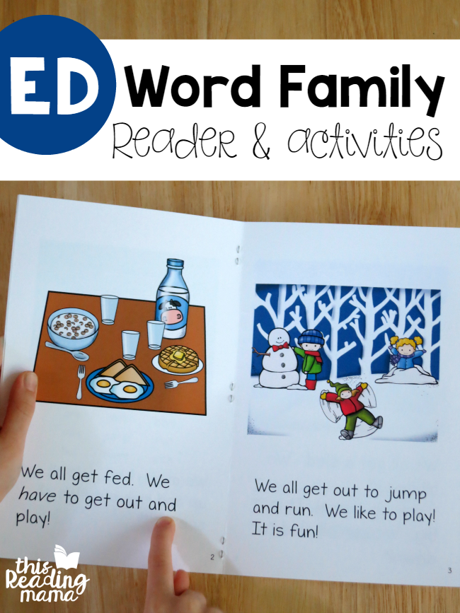 ED Word Family Reader & Activities from Learn to Read - This Reading Mama