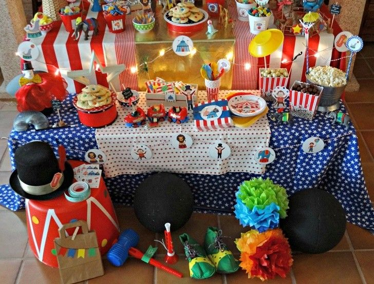 ideas decoracion fiesta circo infantil