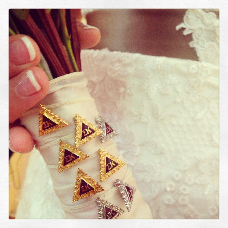 Something Borrowed Wedding Ideas: Something Borrowed. Sorority Pins. Incorporate Your