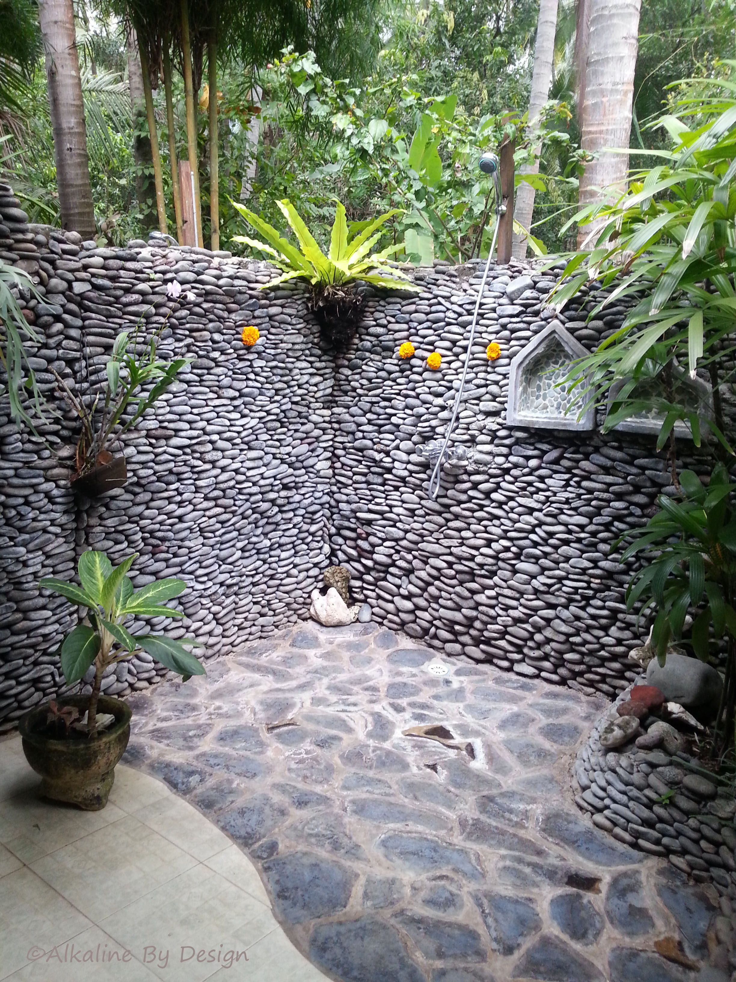 Douche Tropicale Outdoor Shower Bali Douche Extérieur Pinterest