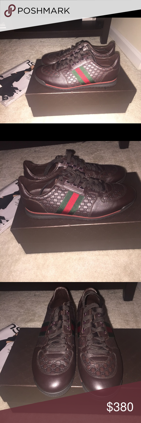 Mens Gucci Sneakers Pre-loved mens gucci sneaker great condition wore only  once!! Gucci Shoes Sneakers 133a51c1abc