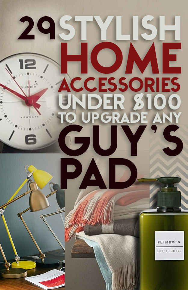 29 Stylish Home Accessories Under 100 To Upgrade Any Guy S Pad Or Man Cave