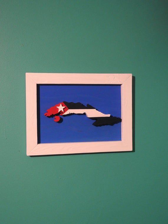 Cuba : Island Paradise - Wall Art & Flag - Caribbean Island -- #cubaisland