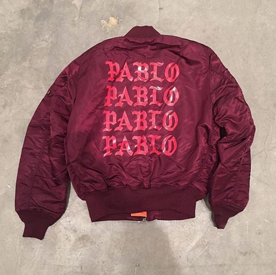 Our Ma 1 Bomber Customized By Kanye West For His Life Of Pablo Pop Up Shop This Just Moved To The Top Of Your Wish Pablo Clothing Bomber Jacket Pablo Jacket