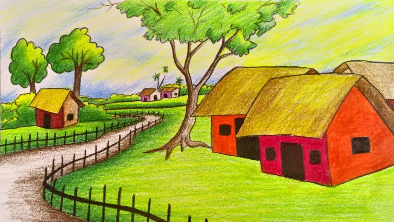 Related Image Drawing Scenery Landscape Drawing Easy Easy Scenery Drawing