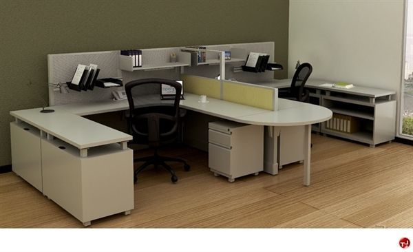 Picture Of 2 Person U Shape Office Desk Steel Workstation U