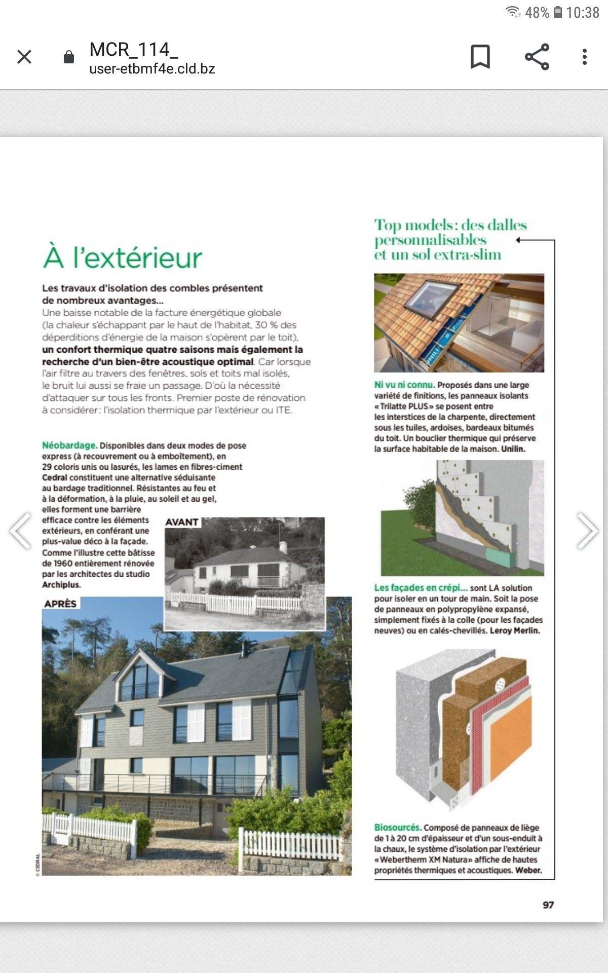 Avant Apres Tire Du Magazine Maison Creative Magazine Maison Isolation Combles Habitat