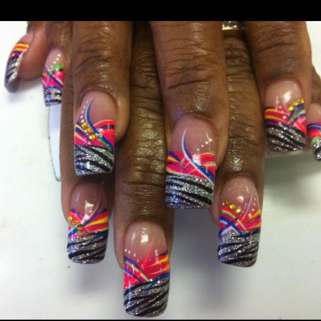 She Couldnt Decide Line Design Or Zebra Stripes So I Did Both