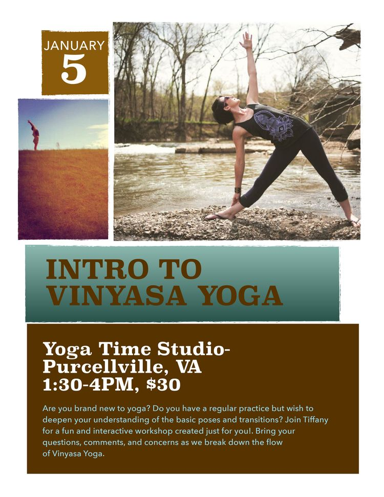 Yoga Time Intro To Vinyasa Yoga Flyer PdfJpg  Yoga Art
