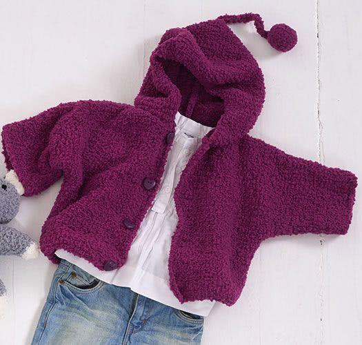 babyjacke mit kapuze aus schachenmayr tabby handarbeiten pinterest baby baby stricken und. Black Bedroom Furniture Sets. Home Design Ideas