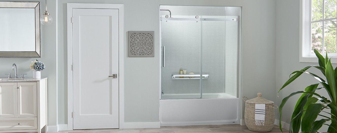 Jacuzzi Exposed Roller Shower Door Bathtub Doors Shower Doors