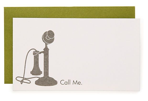 """S/16 """"Call Me"""" Enclosure Cards on OneKingsLane.com"""
