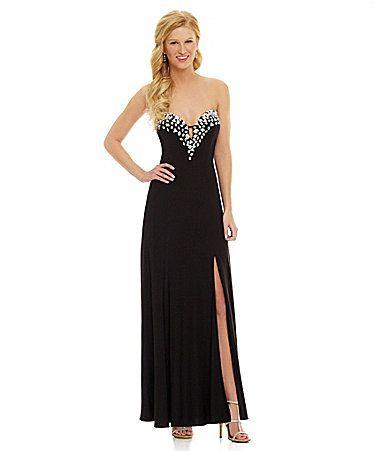 247c0a5ba43 Masquerade Beaded Sweetheart Gown  Dillards Banquet Dresses