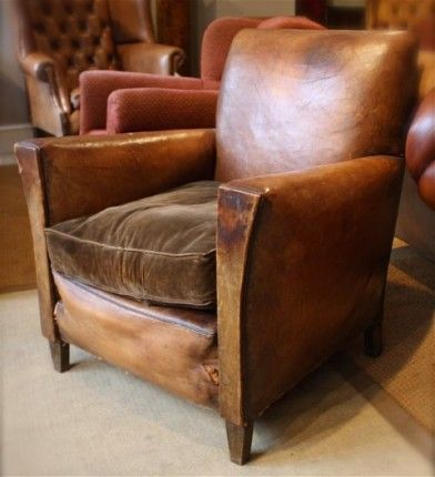 1930 S Original French Leather Chair Leather Chairs Of