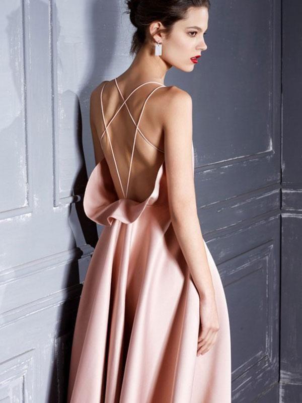 Elegant Open Back Princess Cocktail Dress #backlesscocktaildress