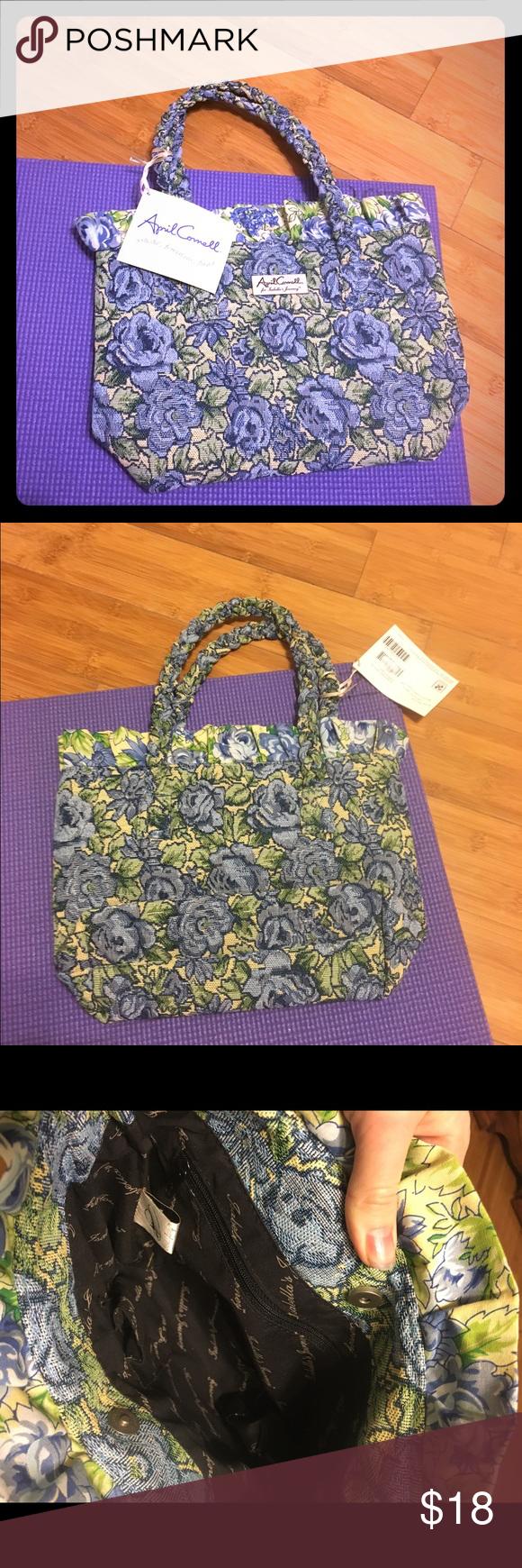 7ba7ee6d33 NWT April Cornell Isabella s Journey carpet bag NWT