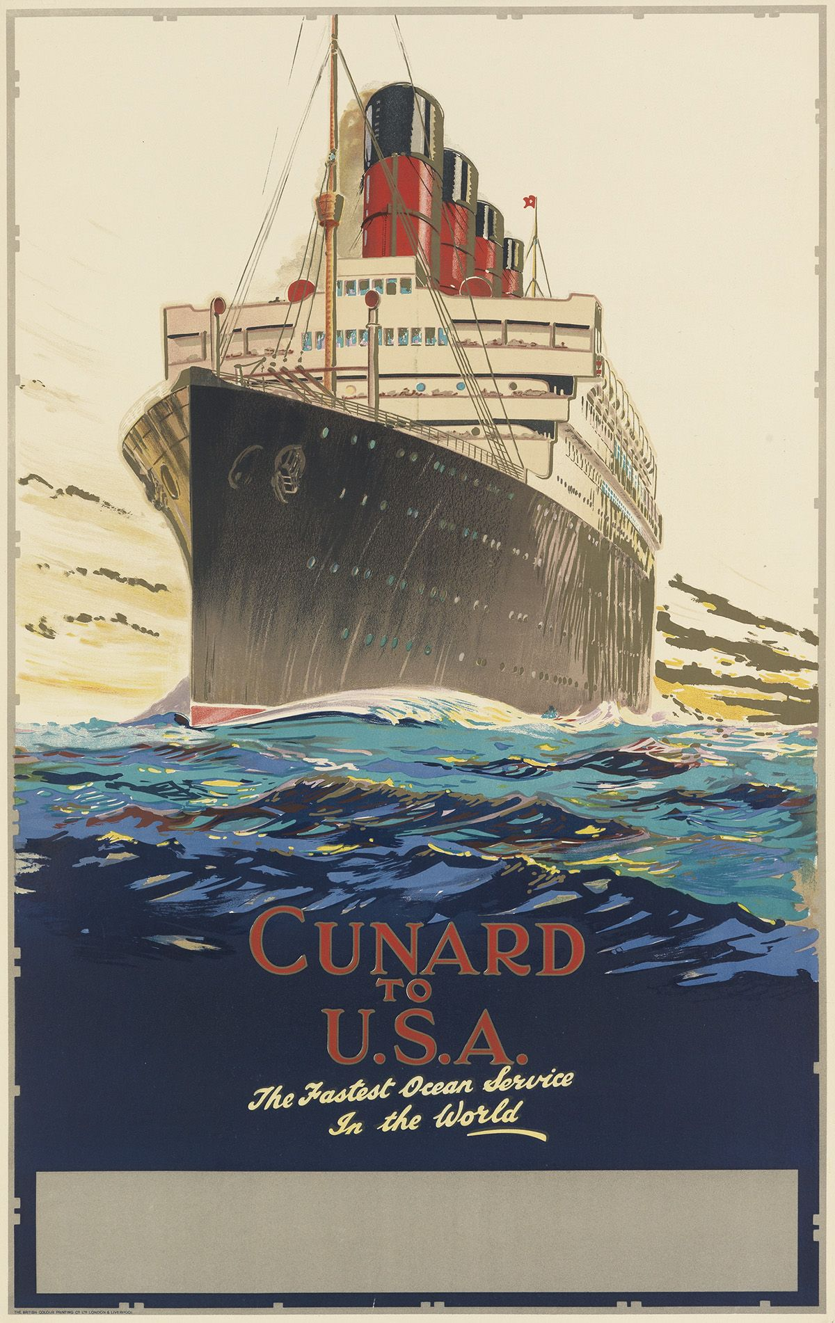 NEW YORK North German Lloyd BREMEN EUROPA Liner Ship Travel Poster Art Print 093