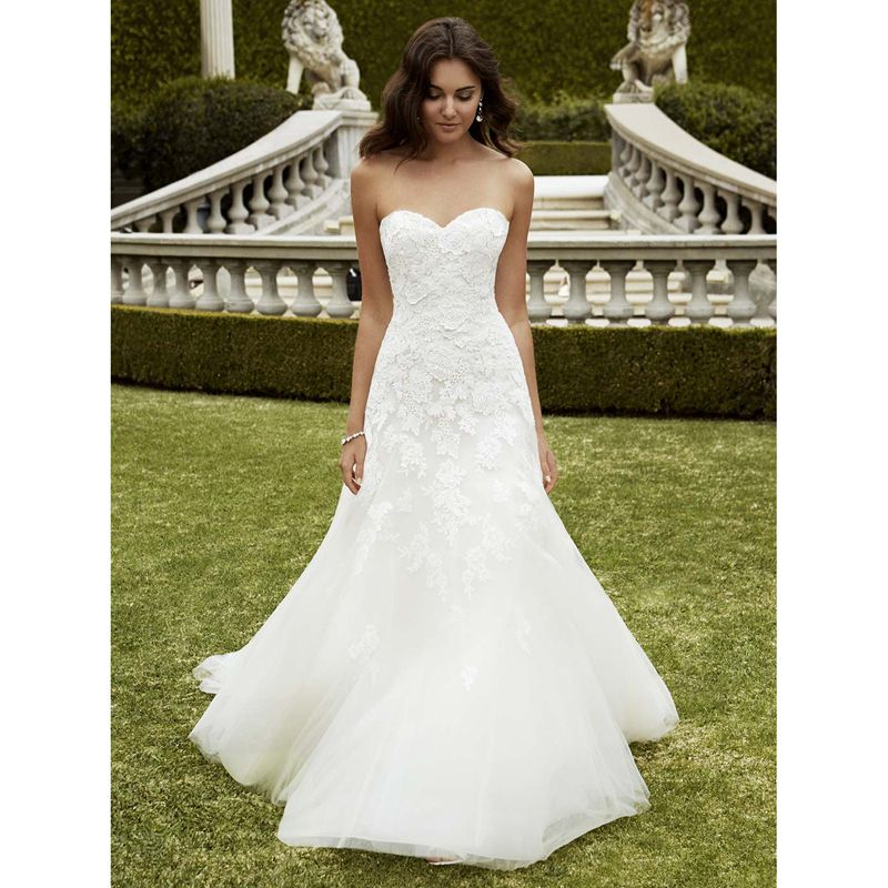 Find More Wedding Dresses Information About Izmir Free Shipping Online Sale Sweetheart Lace Embroidered On Tulle