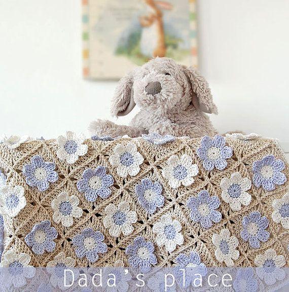 Crochet blanket PDF/Newborn blanket pattern/Crochet PDF tutorial ...