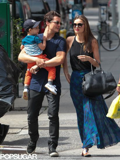 07a77aa1df9 Miranda Kerr and Orlando Bloom spent the day with Flynn in NYC