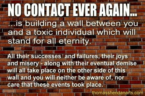Exactly! 100% no contact!! Toxicity needs to seep out of ...  |Toxic Contacts